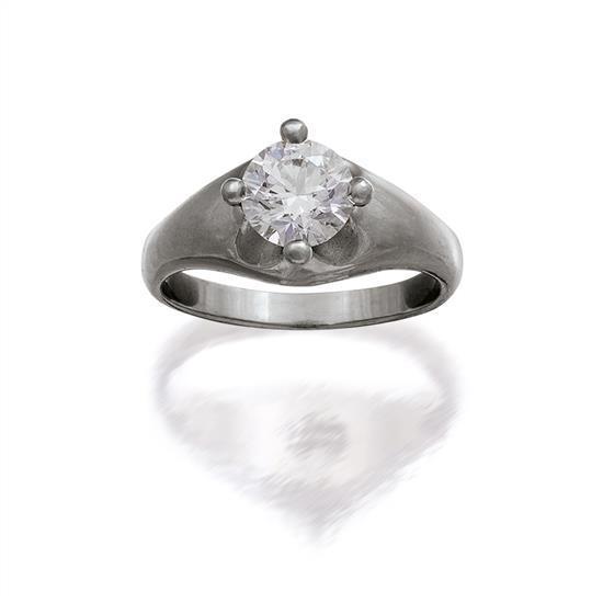Platinum and diamond ''Corona'' ring, Bulgari