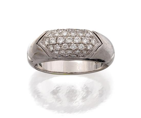 18ct white gold and diamond ''Tronchetto'' ring, Bulgari
