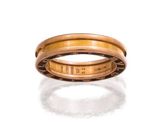 18ct rose gold ''B-zero1'' ring, Bulgari