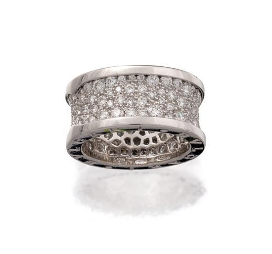 18ct white gold and diamond ''B-zero1'' ring, Bulgari, circa 2015