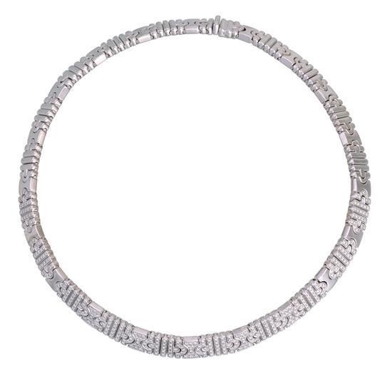 18ct white gold and diamond ''Parentesi'' necklace, Bulgari