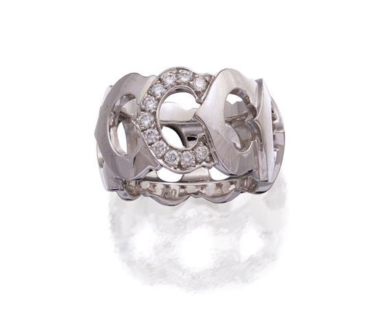 18ct white gold and diamond ''C de Cartier'' ring, Cartier