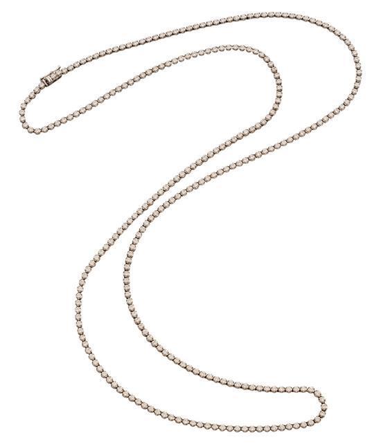 18ct white gold and diamond necklace, Bunda, circa 2013