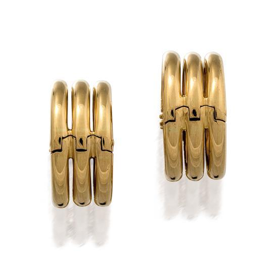 Pair of 18ct gold cufflinks, Pomellato