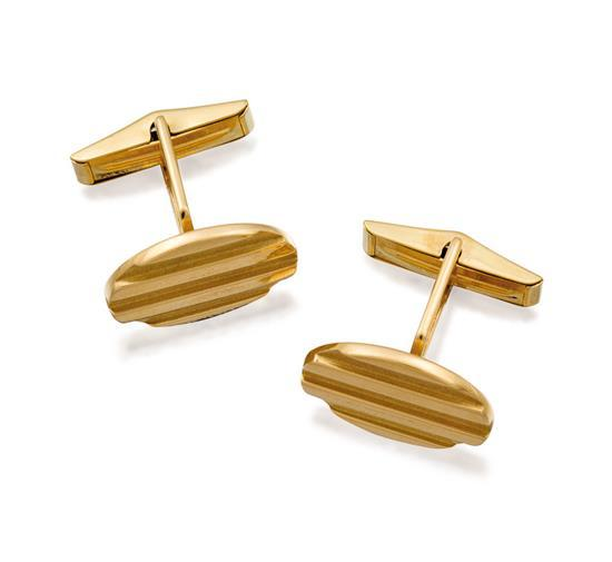 Pair of 18ct gold cufflinks, Tiffany & Co., circa 1995