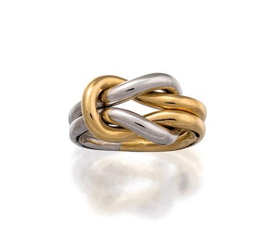 18ct bi-colour gold ring, Cartier