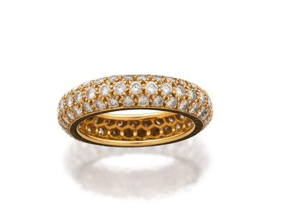 18ct gold and diamond ''Mimi'' ring, Cartier