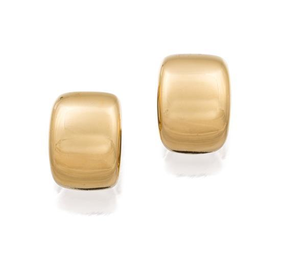 Pair of 18ct gold earrings, Cartier