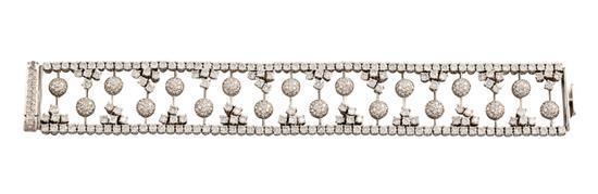 18ct white gold and diamond bracelet