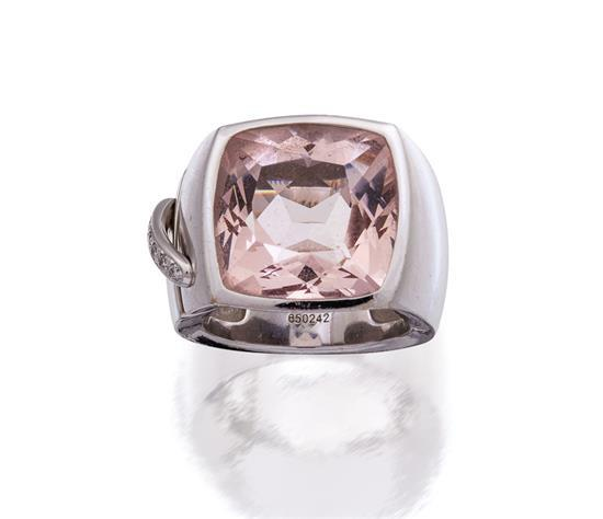 18ct white gold, morganite and diamond ''Liens'' ring, Chaumet, circa 2006