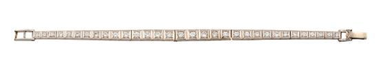 14ct white gold and diamond bracelet