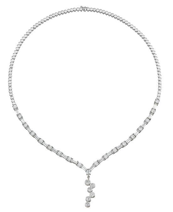 18ct white gold and diamond necklace, Janai
