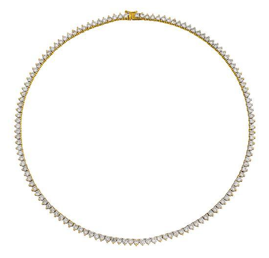 18ct gold and diamond necklace