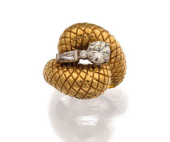 14ct gold and diamond ring