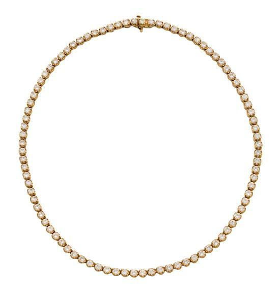 14ct gold and diamond necklace