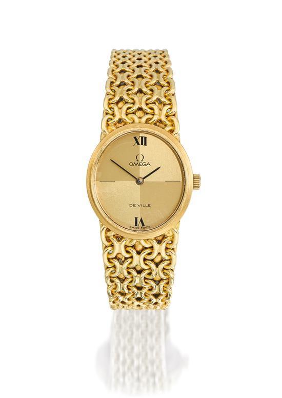 Omega A lady''s 18ct gold bracelet watch ref 8339 mvt 35932195 De Ville circa 1980