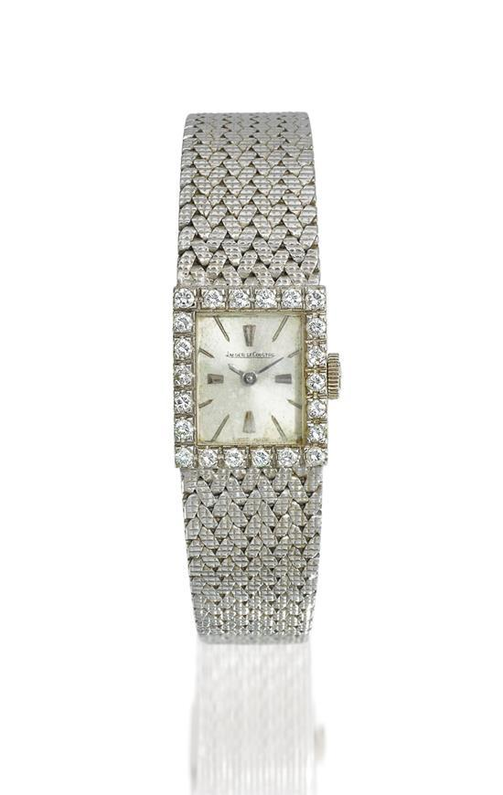 Jaeger-LeCoultre A lady''s 18ct white gold and diamond-set bracelet watch case 9977243 circa 1970