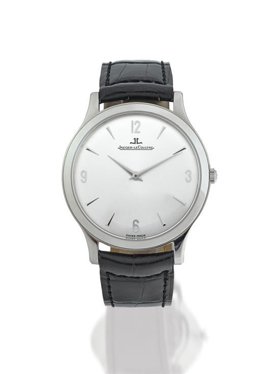 Jaeger Le-Coultre A slim stainless steel wristwatch ref 145.8.79.S no 3731 Master Control 1000H circa 2007