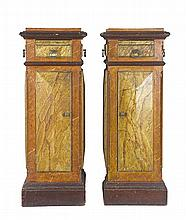 A pair of French painted pedestals, late 18th/early 19th century (2)