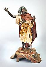 An orientalist bronze cold painted figure, Arthur Waagen, German 1833-1898, late 19th century