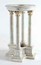 A white marble folly/umbrella stand, 20th century