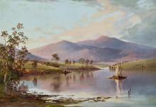 The Flood in the Darling 1890 Canvas Print Australian Art W C Piguenit
