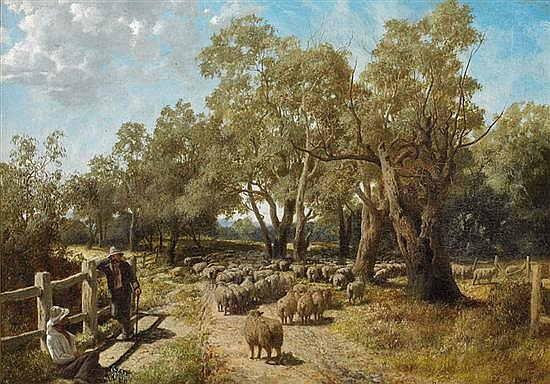 William Ford 1820-1886? YARRA FLATS 1874 oil on canvas