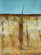 SIDNEY NOLAN 1917-1992 Grass Trees (1948) enamel paint on composition board