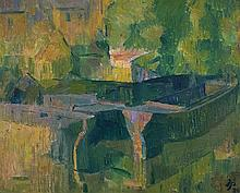 JOHN PASSMORE 1904-1984 Canal Barges, London 1939 oil on canvas