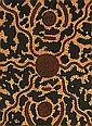 Kaapa Mbitjana Tjampitjinpa circa 1920-1989 BUSH FIRE (1973) synthetic polymer paint on artist board