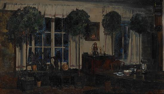 Arthur streeton 1867 1943 the artist 39 s dining room 1911 oi for Dining room 56 willoughby street