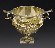 A Victorian silver gilt 'Skyphos' cup, Barnard Brothers, London 1840