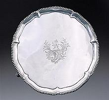 A George III silver salver, Richard Rugg, London 1763