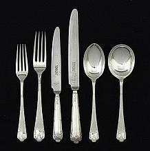 A suite of sterling silver cutlery, Sheffield 1947, makers S. Roberts and C. Belk (48)