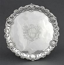A George III silver salver, Ebenezer Coker, London 1771