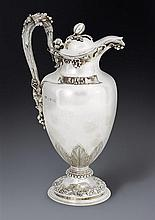 A William IV silver wine jug, Barnard Brothers, London 1831