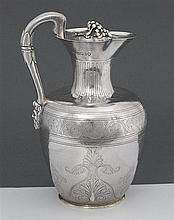 A Victorian silver wine jug, George Fox, London 1864