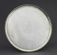 A George III silver salver, John Crouch and Thomas Hannam, London 1781