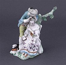 A rare Rockingham porcelain figure, circa 1830 & a Derby porcelain, circa 1765 (2)