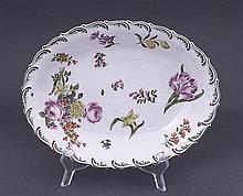 A Chelsea oval dish, circa 1755