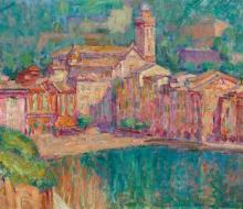 JOHN RUSSELL 1858-1930 Portofino (1920) oil on canvas on board 50 x 58 cm