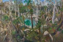 WILLIAM ROBINSON born 1936 The Jade Pool, Carnarvon 2008 oil on canvas 110 x 162 cm