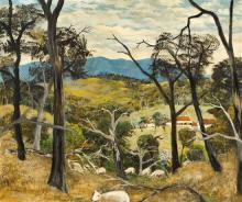 RAY CROOKE 1922-2015 In the Dandenongs (1959) oil on composition board 50 x 60.5 cmframe: original, Martin Smith, Melbourne