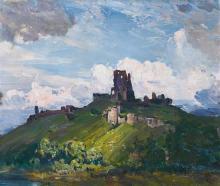 § ARTHUR STREETON 1867-1943 Corfe Castle (1909) oil on canvas 64.8 x 79 cmframe: original, John Thallon, Melbourne