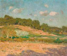EMANUEL PHILLIPS FOX 1865-1915 Hillside, France (circa 1904) oil on canvas on board 37.5 x 44.5 cm