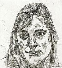 LUCIAN FREUD 1922-2011 ESTHER (1991) etching on paper