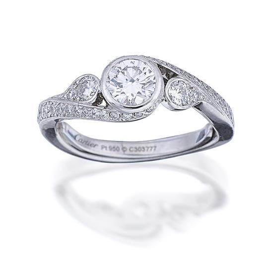 platinum and ring cartier