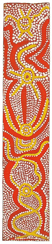 Johnny Warangkula Tjupurrula circa 1925-2001 WATER DREAMING (1971) synthetic polymer paint on composition board