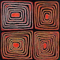 (Mawukura) Jimmy Nerrimah born circa 1926 FOUR WATER HOLES (2008) synthetic polymer paint on canvas