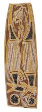 BILINYARA NABEGEYO born circa 1920 (Untitled) natural earth pigments on eucalyptus bark